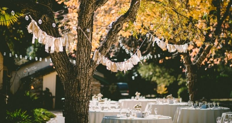 Hochzeits Gartendeko Test